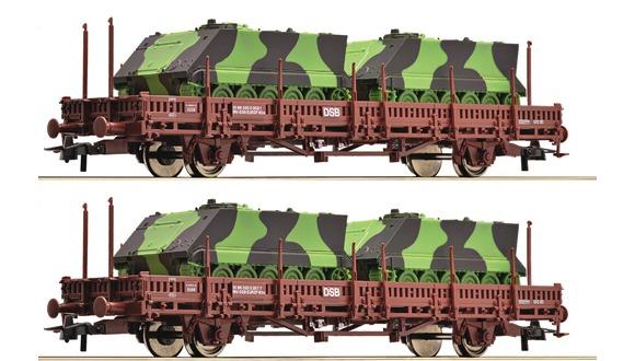 lager2st flakvagn militär DSB, Roco