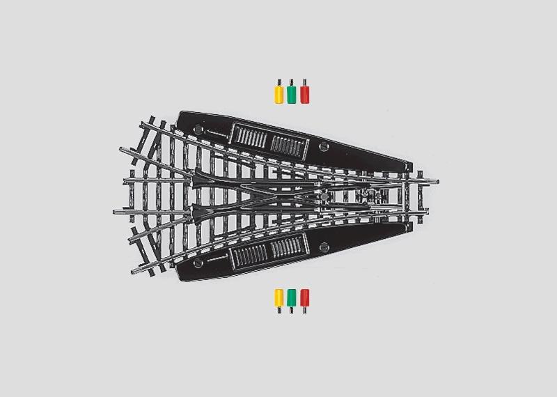lagerB3-vägsväxel r424,6 mm, Märklin
