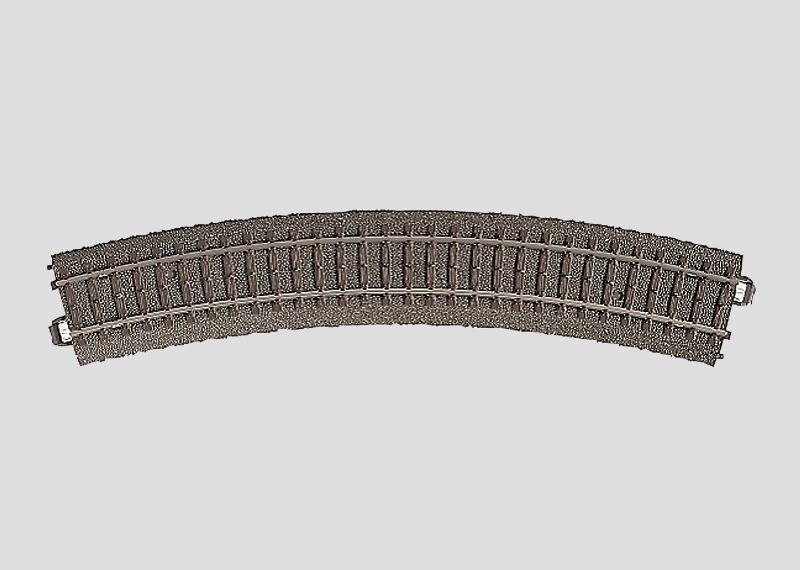 lagerBBöjd räls r437,5 mm, Märklin