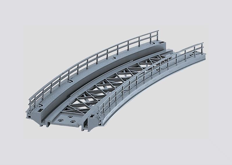 lagerBöjd bro R1 360 mm, Märklin