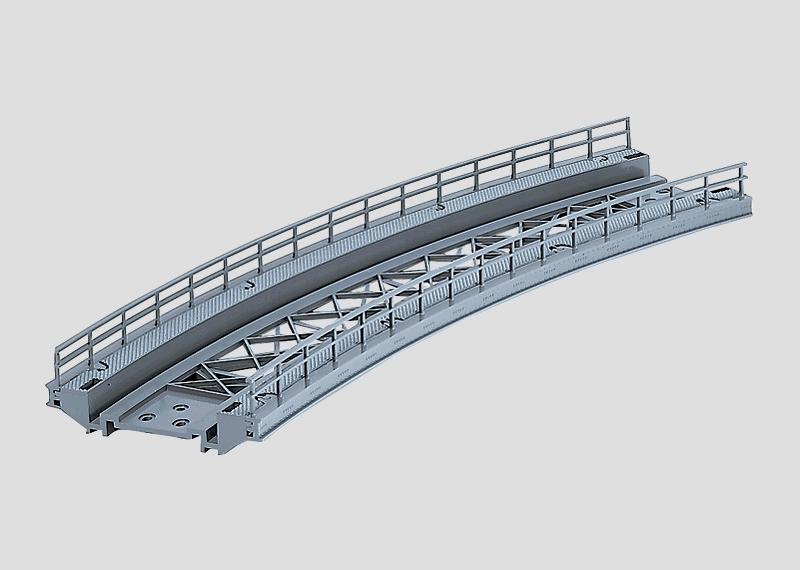 lagerBBöjd bro R2 424,6mm, Märklin