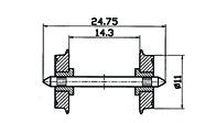 Skivhjul DC 11mm