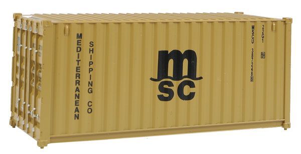 lagerContainer MSC 20fot H0, Walthers